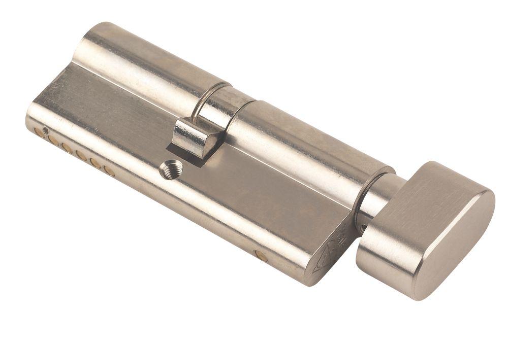 Yale KM Series Euro Thumbturn Cylinder Lock 45-50 (95mm) Satin Nickel