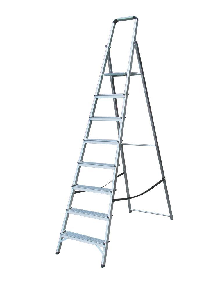Lyte Platform Step Ladder 8-Tread Aluminium