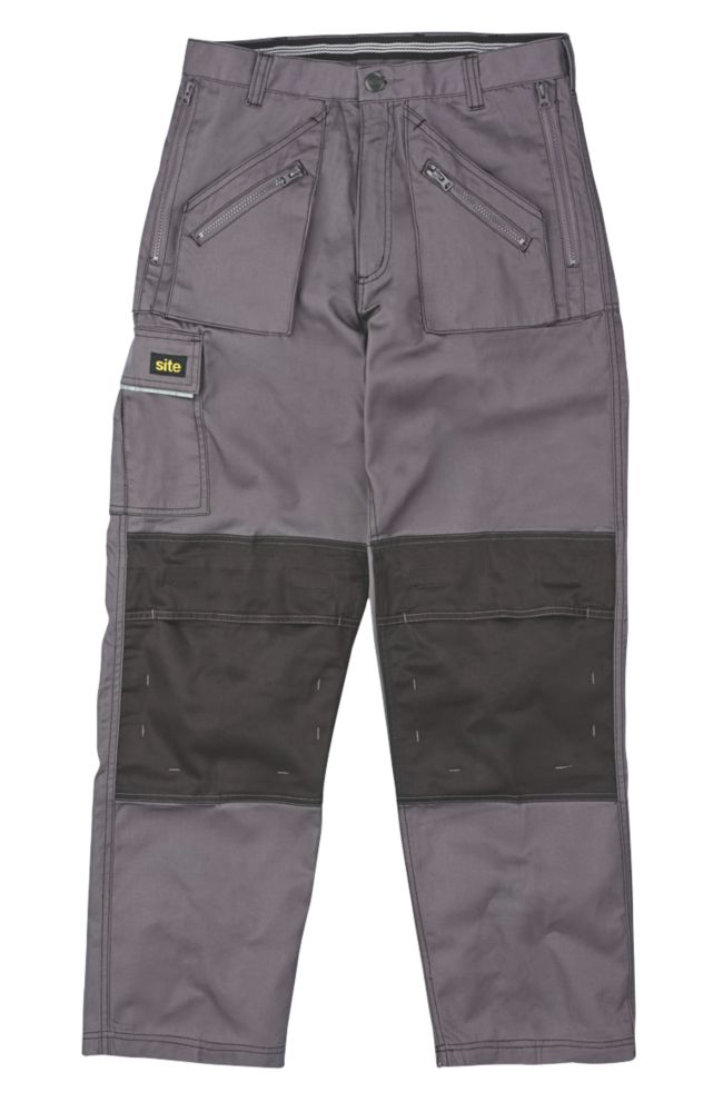 "Site Terrier Classic Work Trousers Grey 40"" W 32"" L"