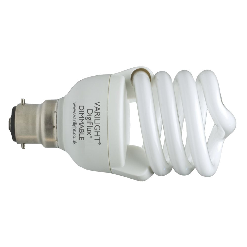 Varilight DigiFlux Energy Saver+ Spiral Compact Fluorescent Lamp BC 20W