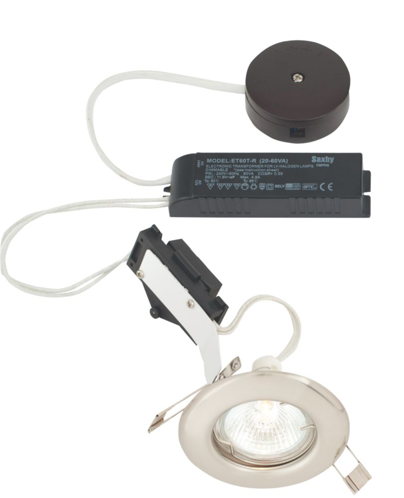 LAP Fixed Round Low Voltage Downlight Pre-Wired Kit Brushed Chrome Eff. 12V