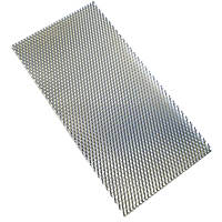 Alfer 6 x 3.5mm Perforated Stretched Metal Sheet / Grille Steel 250 x 500mm