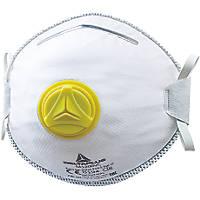 Delta Plus M2FP2V Moulded Disposable Masks P2 2 Pack