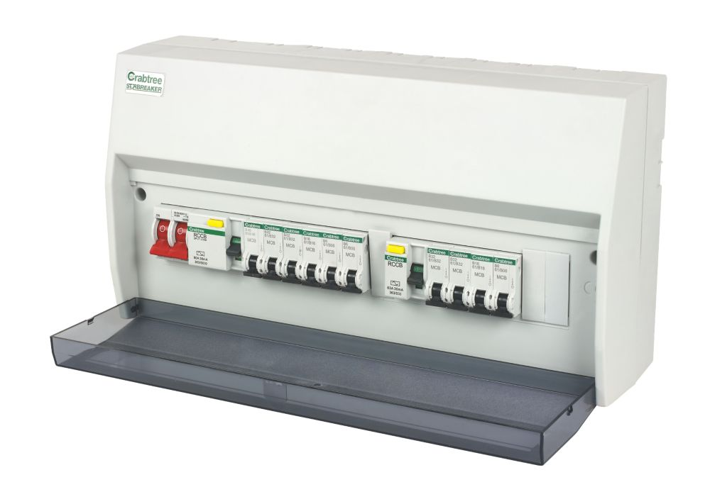 Crabtree 13-Way 7 + 6 Protected Dual RCD Consumer Unit
