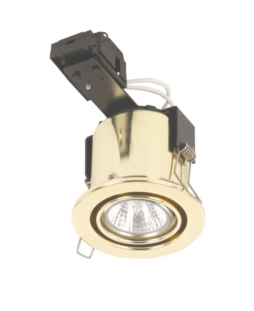 Linolite:Sylvania Adj. Round Pol Brs 12V Low Voltage Fire Rated Downlight
