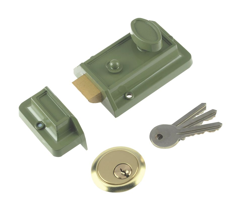 Century Traditional Night Latch Green 60mm Backset