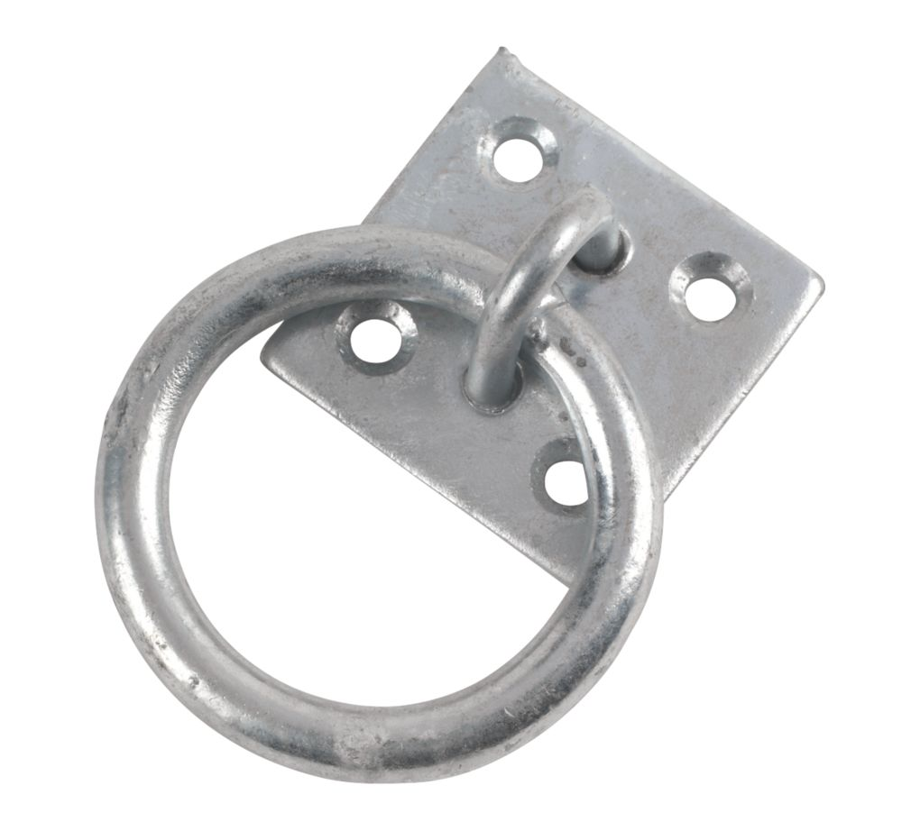 Hardware Solutions Ring on Plate Zinc-Plated M8