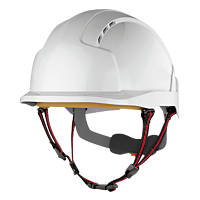 JSP Evolite Skyworker Industrial Height Safety Helmet White