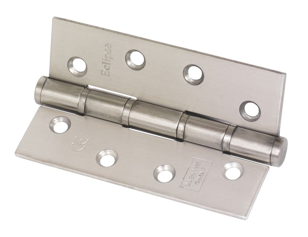 Washered Fire Hinge Grade 7 Satin Stainless Steel 102 x 67mm Pack of 2