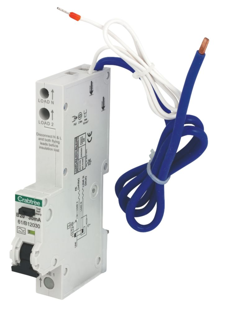 Crabtree 20A 30mA SP RCBO