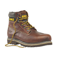 DeWalt Platinum Welted Safety Boots Tan Size 8