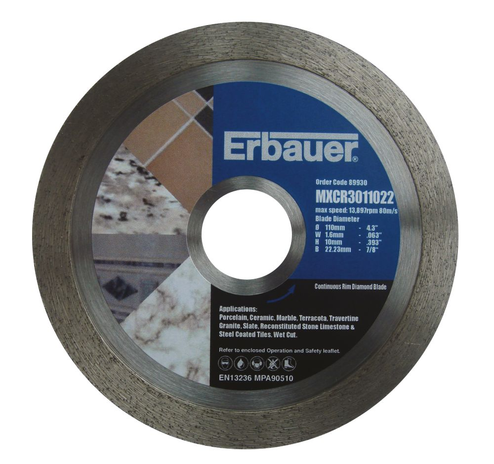 Erbauer Diamond Tile Blade 110mm
