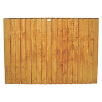Forest Feather Edge Fence Panels 1.82 x 0.9m 4 Pack