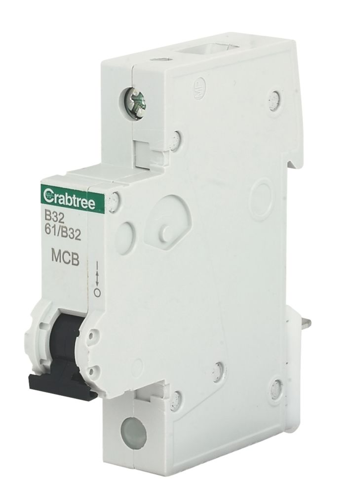 Crabtree 32A SP Type B Curve MCB