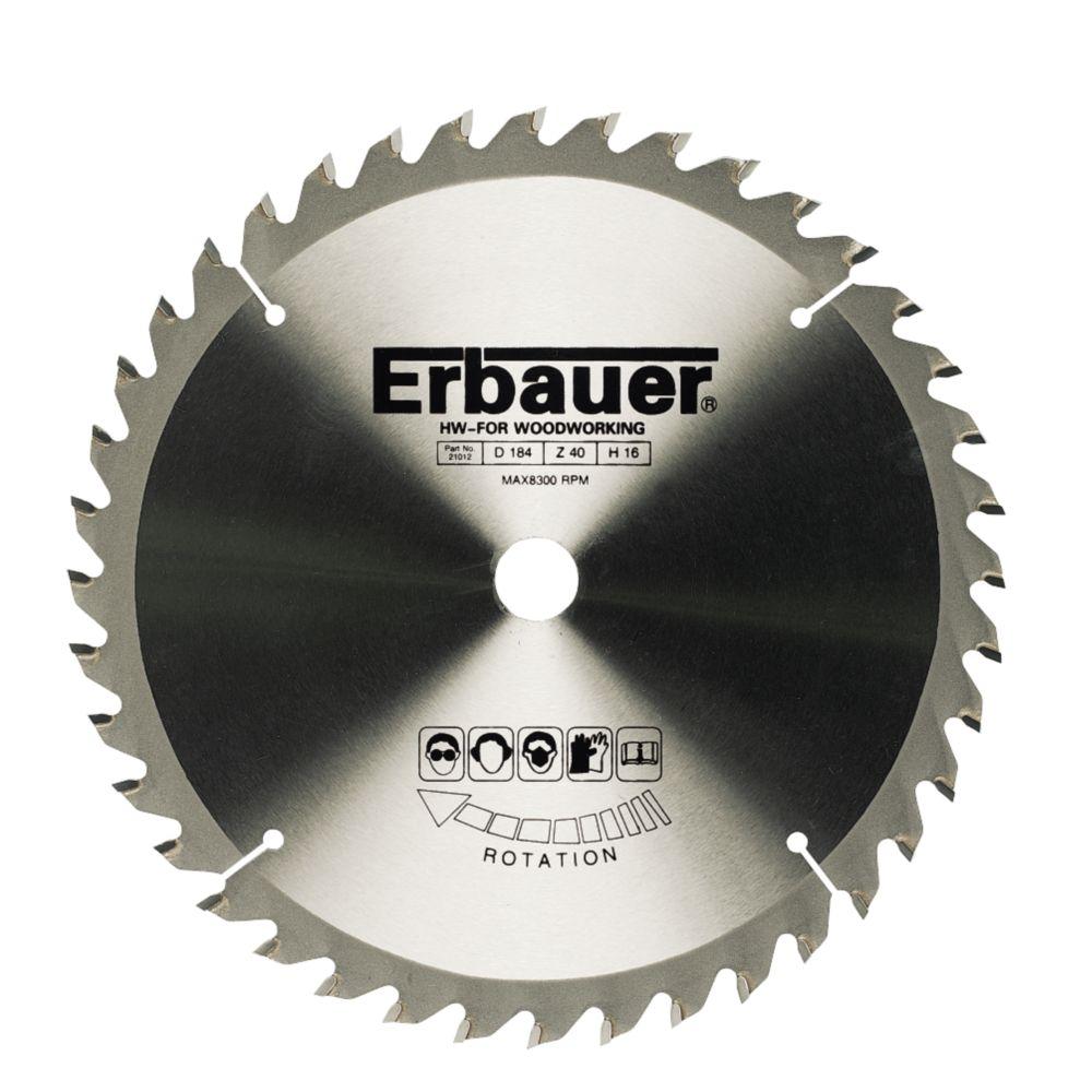 Erbauer TCT Circular Saw Blade 40T 190x16/30mm