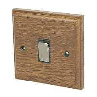 Varilight 1-Gang 20A DP Switch Medium Oak