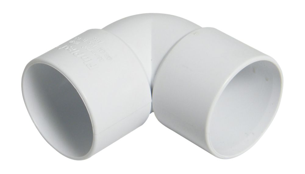 FloPlast 90º Bend White 40mm Pack of 5