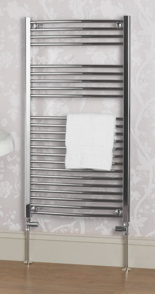 Kudox Curved Ladder Towel Rail Chrome 600 x 1100mm 431W 1471Btu