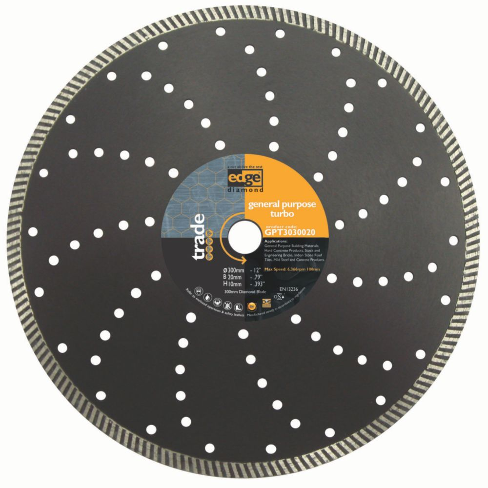 Edge GP Turbo Diamond Blade Medium/Hard 115x22mm