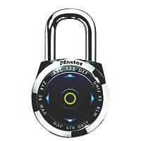 Master Lock Metal Electronic Indoor Combination Padlock Silver / Black 52mm