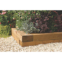 Rowlinson Timber Blocks Natural 1800 x 200 x 100mm 2 Pack