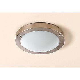 Portal Brushed Chrome Bathroom Ceiling Light 16W