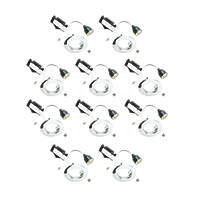 LAP Fixed Mains Voltage Downlight Contractor Pack Polished Chrome 240V 10 Pack