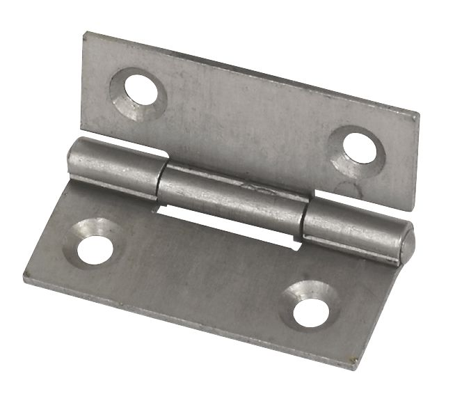 Steel Fixed Pin Hinge Self Colour 40mm Pack of 2
