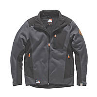 "Scruffs Classic Tech Soft Shell Jacket Black/Grey Large 44-46"" Chest"