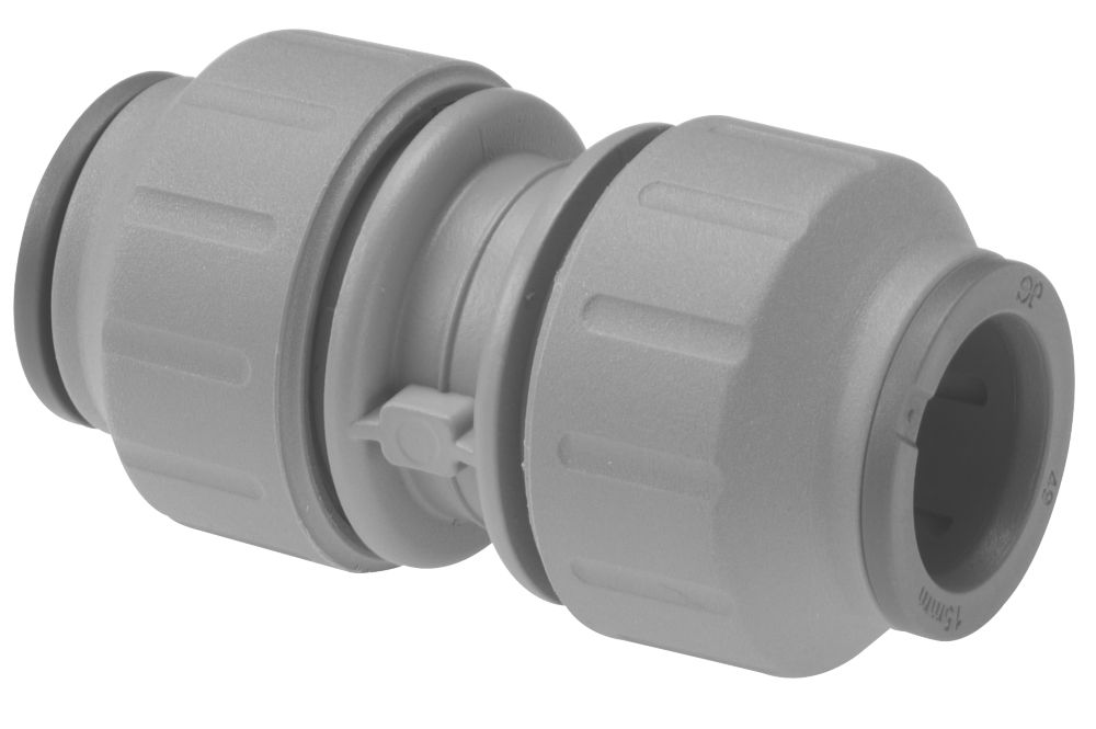 JG Speedfit PEM0410DG Straight Connector Grey 10mm Pack of 10