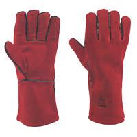 Keep Safe  Welding Gauntlet  Red Large