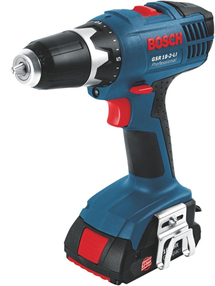 Bosch GSR 18-2-Li 18V 1.3Ah Li-Ion Cordless Drill Driver with L-Boxx