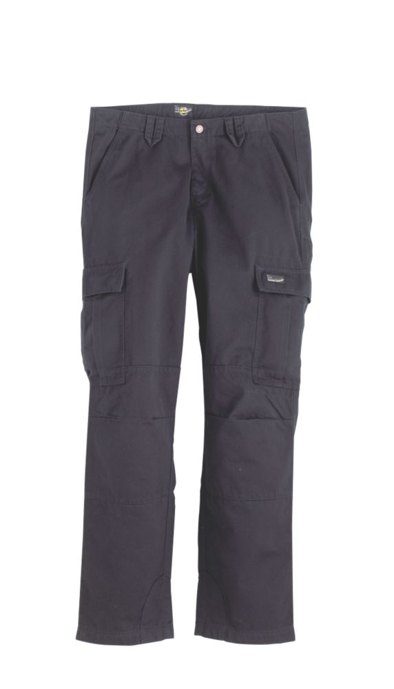 "Dr Martens Black Cargo Trousers Size 34""W 32""L"