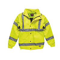"Dickies  Hi-Vis Bomber Jacket Saturn Yellow XX Large 54"" Chest"