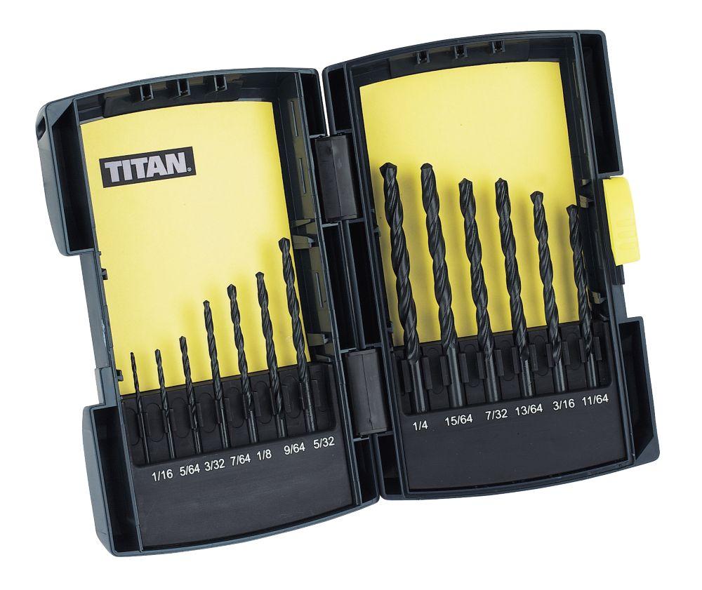 Titan HSS Drill Bit Set Imperial 13 Pc
