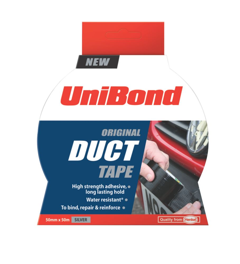 Unibond Cloth Tape Silver 50mm x 50m