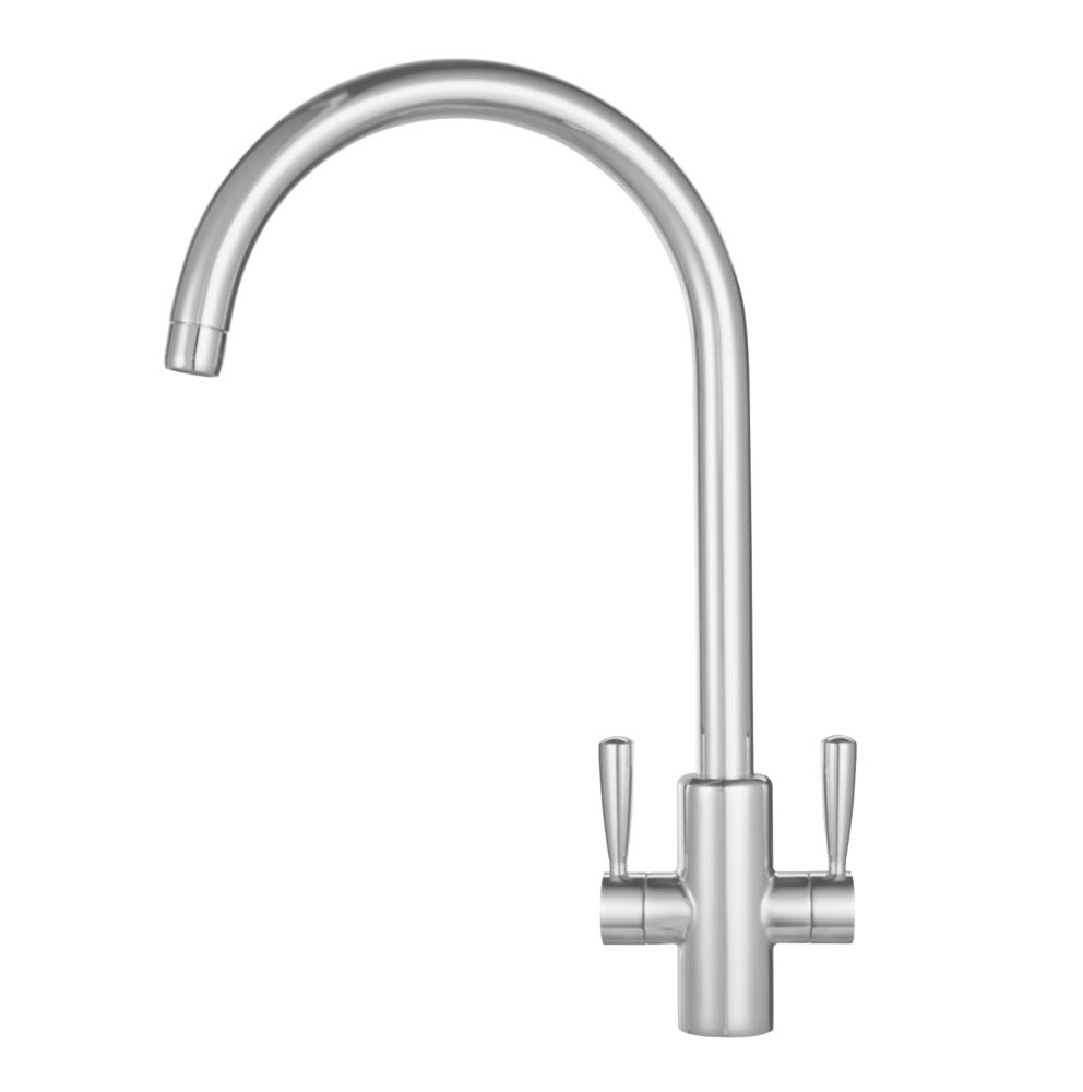 Franke 115.0250.636 Ascona Mono Mixer Kitchen Tap Silk Steel