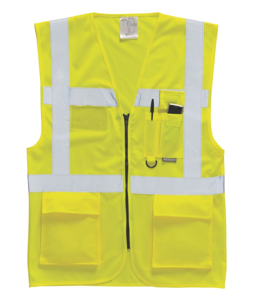 "Hi-Vis Executive Waistcoat Yellow Large 42-44"" Chest"