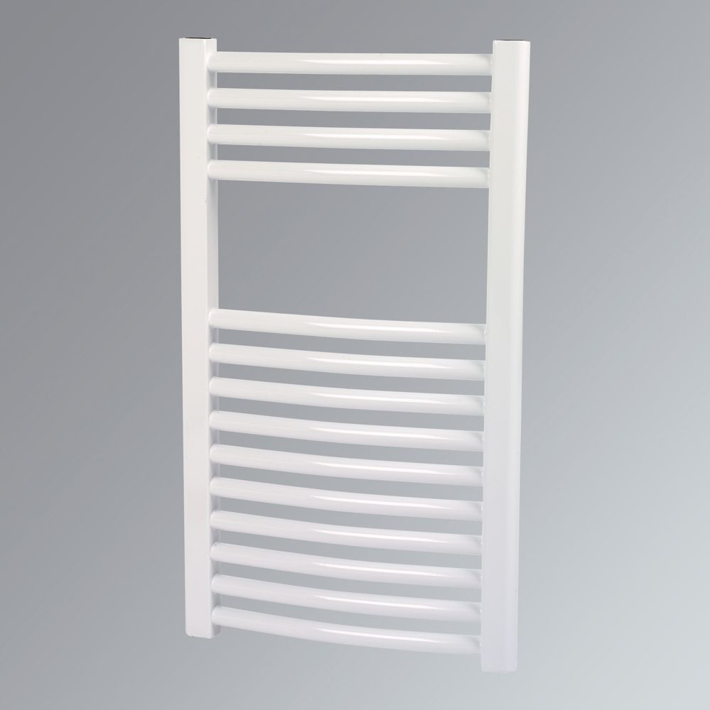 Kudox Curved Towel Radiator White 700 x 400mm 265W 904Btu