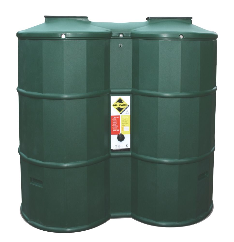 Poly Oil Tank Bottom Outlet Green