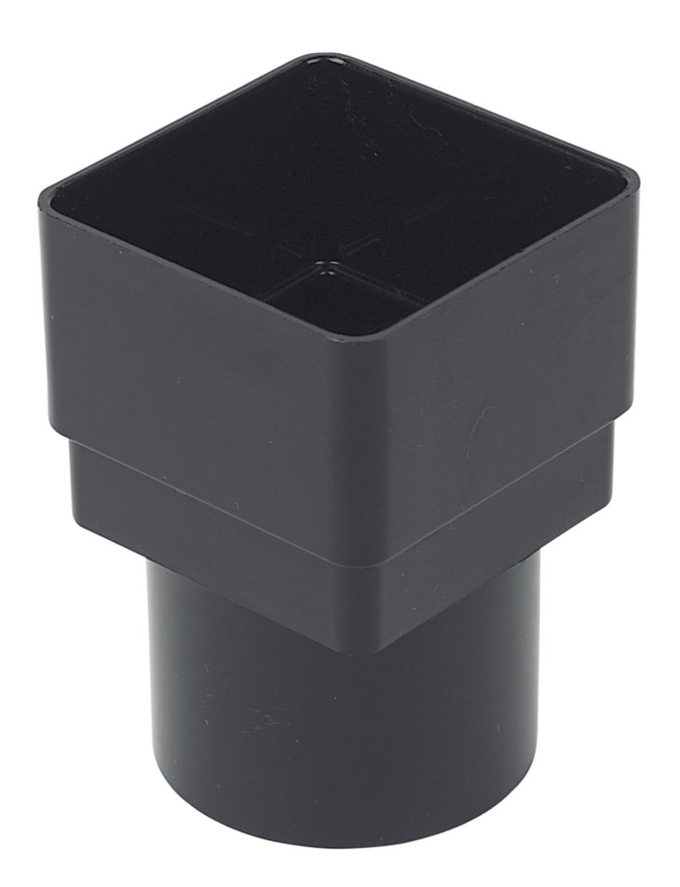 Square Line Black Drainage Adaptor 65mm