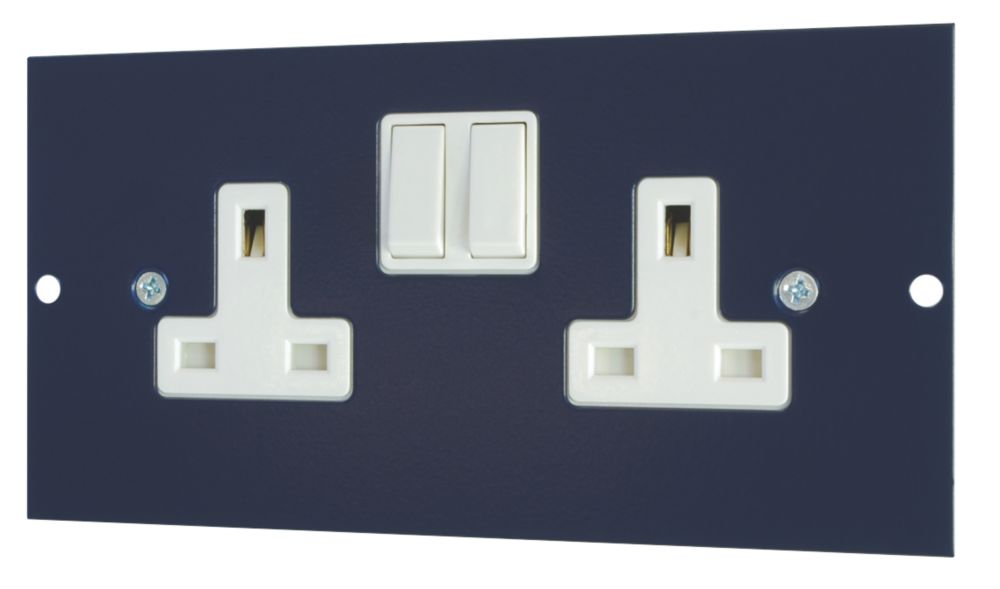 13A Twin Switched Socket Outlet 173 x 87mm