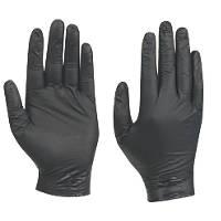 Showa N-Dex Nitrile Powder-Free Nighthawk Disposable Gloves Black Large 50 Pack