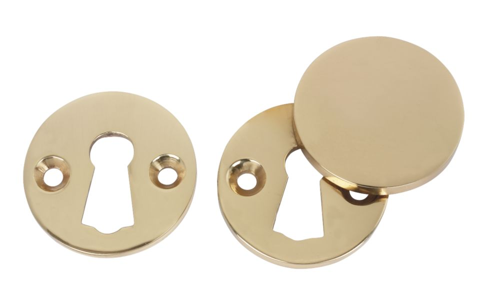 Escutcheon Set Polished Brass 38mm