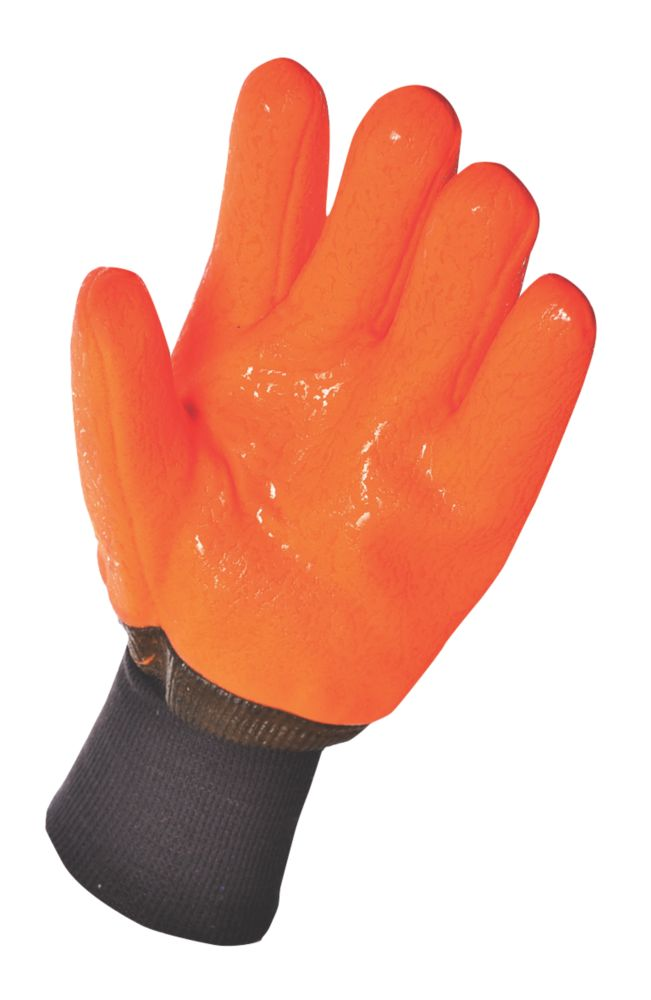 Specialist Handling Cold Hazard Weatherproof Hi-Vis Gloves Orange X Large