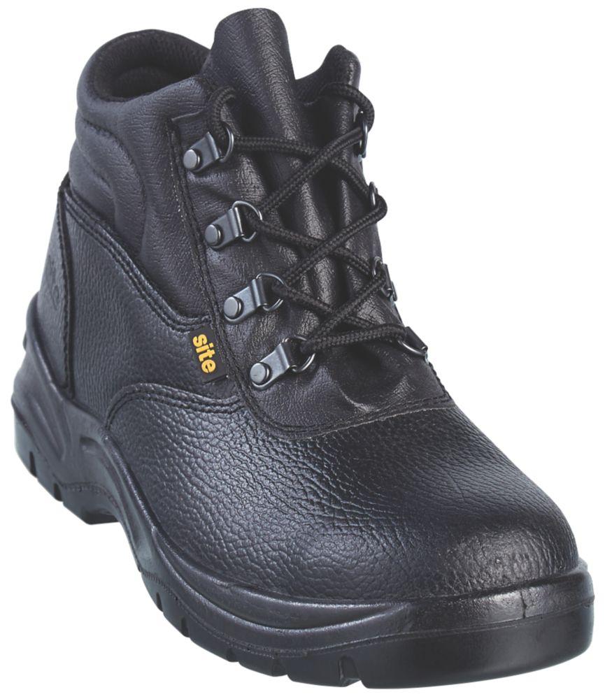 Site Slate Chukka Safety Boots Black Size 6
