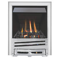 Focal Point Horizon Chrome Rotary Control Inset Gas Multiflue Fire