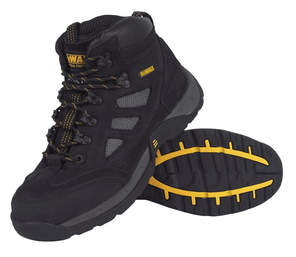 DeWalt Velocity Safety Trainer Boots Black Size 8 + Free Bag