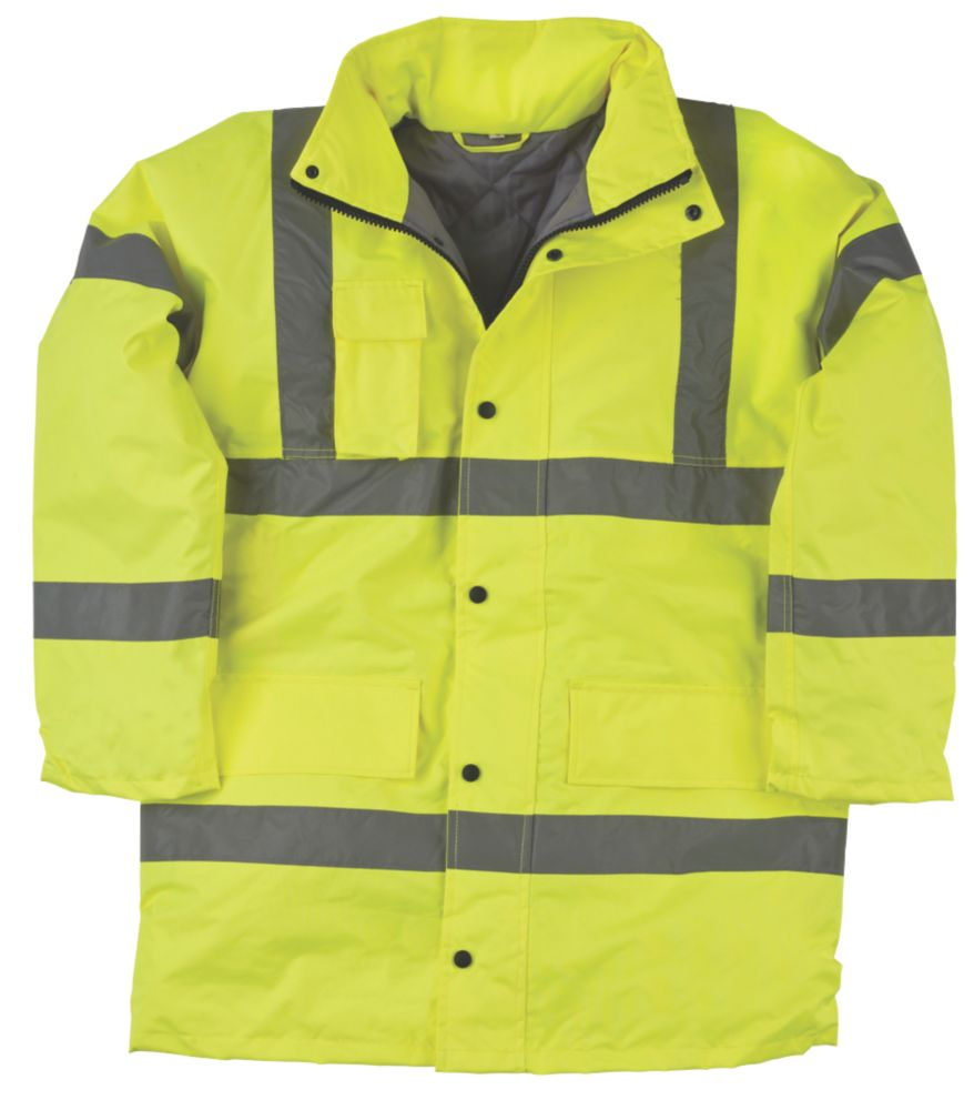 "Hi-Vis Padded Jacket Yellow XX Large 60"" Chest"