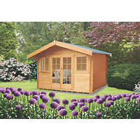 Shire Clipstone 2 Log Cabin Assembly Included 4.1 x 4.1m